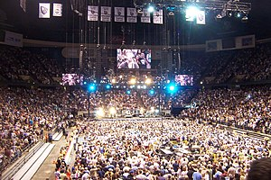 "Born to Run (Bruce Springsteen song) - ""Born to Run"" in its home state of New Jersey.  Izod Center, May 21, 2009."