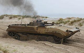 BMP-1 Soviet amphibious infantry fighting vehicle