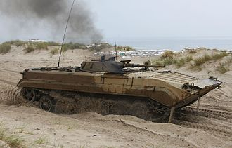 BMP-1 - Polish BMP-1 (BWP-1) during a training exercise.