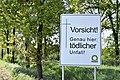 B 68 in Alfhausen Hinweis auf Unfall mit Todesfolge4.jpg