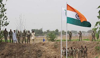 India–Pakistan border - Image: Baba Chamliyal Mela at Indo Pak international Border, near Jammu