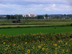 Bad Buchau - View of the abbey complex