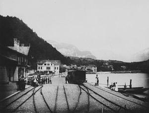 Brienz railway station - Image: Bahnhof Brienz 1888