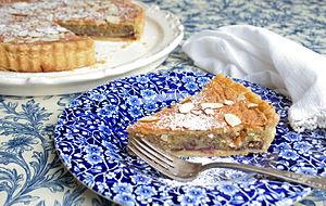 Bakewell tart - Image: Bakewell tart on a plate