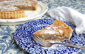 British cuisine - Bakewell Tart, a traditional British confection.
