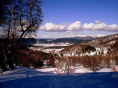 Bakuriani, visión hacia Didveli Valley