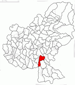 Location of Bălăuşeri