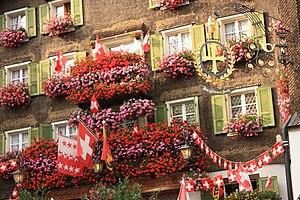 Münster-Geschinen - Flowery balconies in Münster