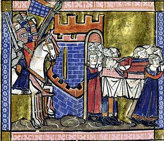 Baldwin II of Jerusalem - Baldwin's funeral