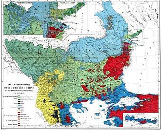 Bulgarian Millet - Ethnic map of the Balkans from 1861, by Guillaume Lejean. Bulgarians are marked with light green.