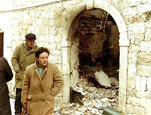 Yugoslav Wars - Damage after the bombing of Dubrovnik