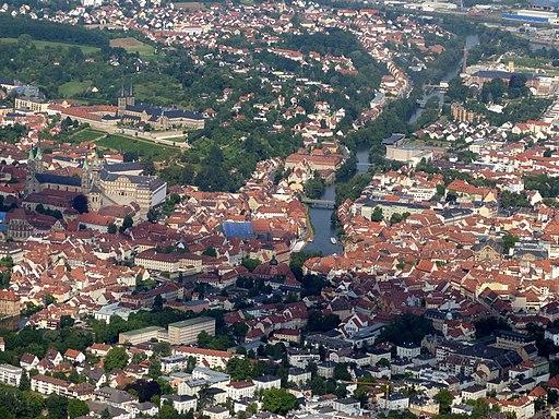 Bamberg aus der Flugzeugperspektive
