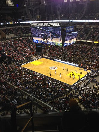 Bankers Life Fieldhouse - Image: Bankers Life Fieldhouse Balcony View