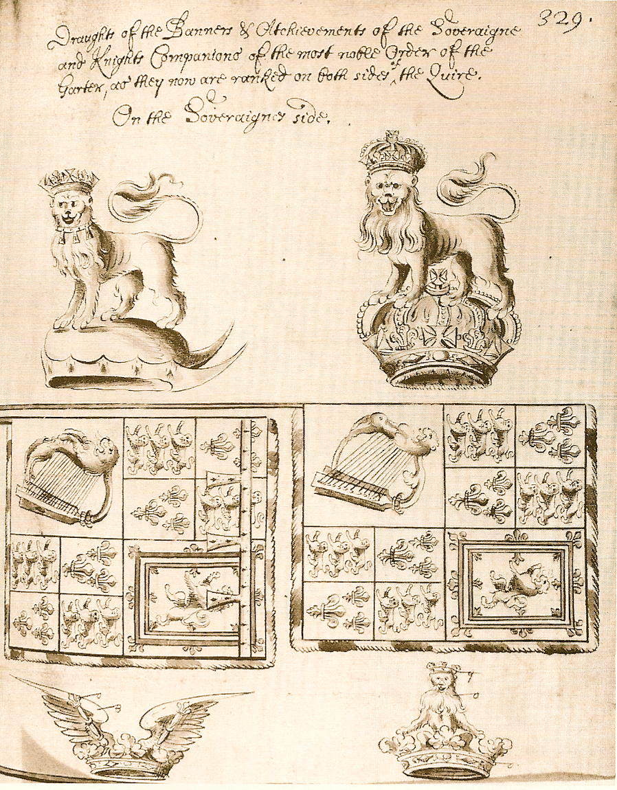Banner and Crest of Charles II and James II