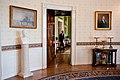 Barack Obama return in the Green Room seen from the Blue Room.jpg
