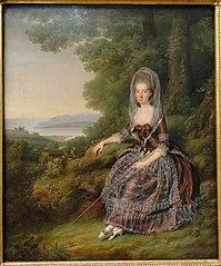 La Baronne Matilda Guiguer de Prangins dans son parc près du Lac Léman