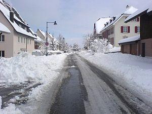 Schönenbuch - Basel street in Schönenbuch