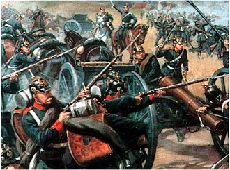 Battle of Langensalza (1866) - Prussian Artillery attacked at the Battle of Langensalza 1866