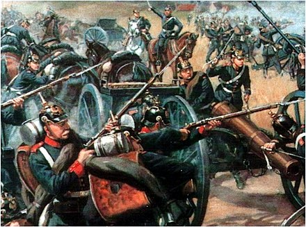 Prussian artillery at the Battle of Langensalza (1866) Battle of Langensalza.jpg