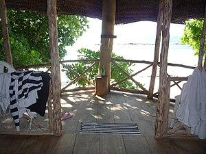 Beach fale - Image: Beach fale interior Samoa 2009