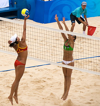 Beach volleyball at the 2008 Summer Olympics – Women's tournament - Pool D game: China v. South Africa