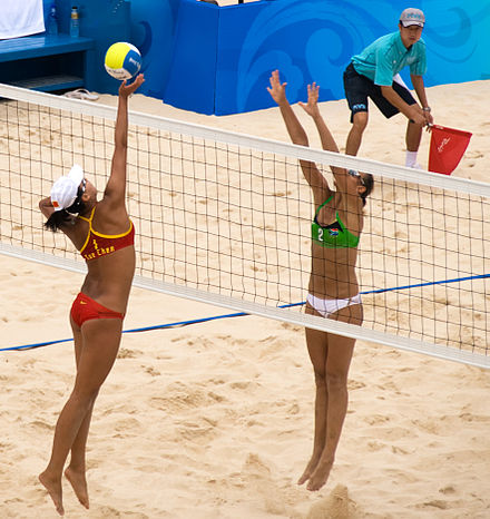 Pool D game: China v. South Africa Beach volley at the Beijing Olympics - China v. South Africa.jpg