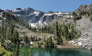 Bear Mountain and tarn below Devils Punchbowl in Siskiyou Wilderness.jpg