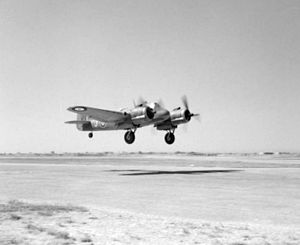 Beaufighter 235 Sqn RAF taking off at Luqa Malta 1942.jpg
