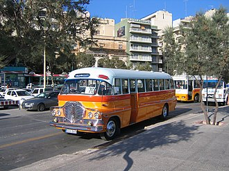 Buses in Malta - The shining chrome on a Malta bus
