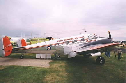 Beechcraft C-45 Expeditor in RCAF Air Transport Command markings Beech18RCAF.JPG