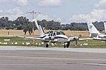 Beech 95-A55 Baron (VH-DBZ) taxiing at Wagga Wagga Airport.jpg