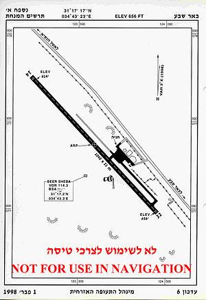 Be'er Sheva (Teyman) Airport -  Be'er Sheva (Teyman) Airport chart