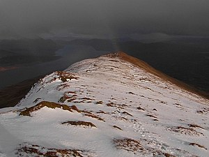 Beinn nan Ramh shines out in the gloom - geograph.org.uk - 824698.jpg