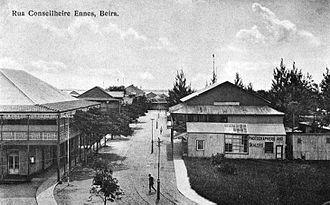 Beira, Mozambique - View of Rua Conselheiro Ennes, Beira, c. 1905.