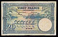 Belgian Congo 20 Francs 1952, verso French.jpg