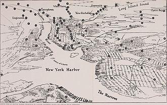 Verizon New York - Exchange locations, 1934