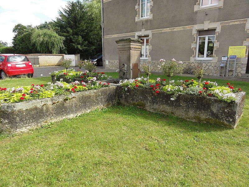 Benaménil (M-et-M) fontaine fleurie