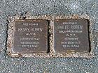 Berggartenstraße 20, Celle, Stolperstein Henry Ruben Jg. 1873, deportiert 1942, Theresienstadt, tot 17.3.1943, Grete geborene Hammerschlag, Jg. 1878 ... tot 23.12.1942.jpg