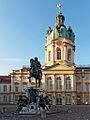 Berlin - Schloss Charlottenburg Reiterstandbild & Schlossturm.jpg