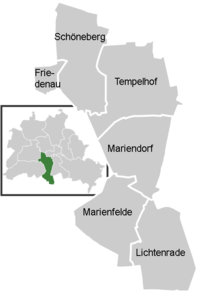 District map of Tempelhof-Schöneberg