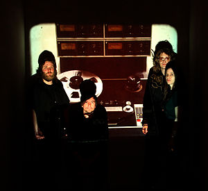 The Besnard Lakes - The Besnard Lakes. (Left to right: Kevin Laing, Richard White, Jace Lasek, Olga Goreas)