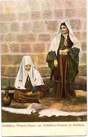 Arab Christians - Christian Arab women in Bethlehem circa 1900
