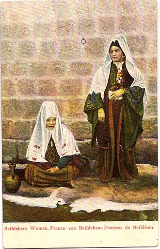 Arab Christians - Christian Arab women in Bethlehem circa 1900
