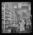 Beverly Ann Grimm, eleven, leaving the store after making the family purchases 8d29091v.jpg
