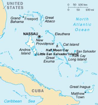 Little San Salvador Island - Map of Bahamas