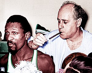 History of the Boston Celtics - Bill Russell and Red Auerbach won 11 titles with the Celtics; Auerbach was the general manager and coached the first 9 titles, while center Russell served as player-coach in the last two championships.