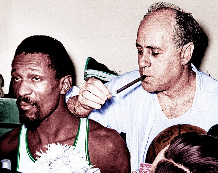 Bill Russell and Red Auerbach 1966 Champions