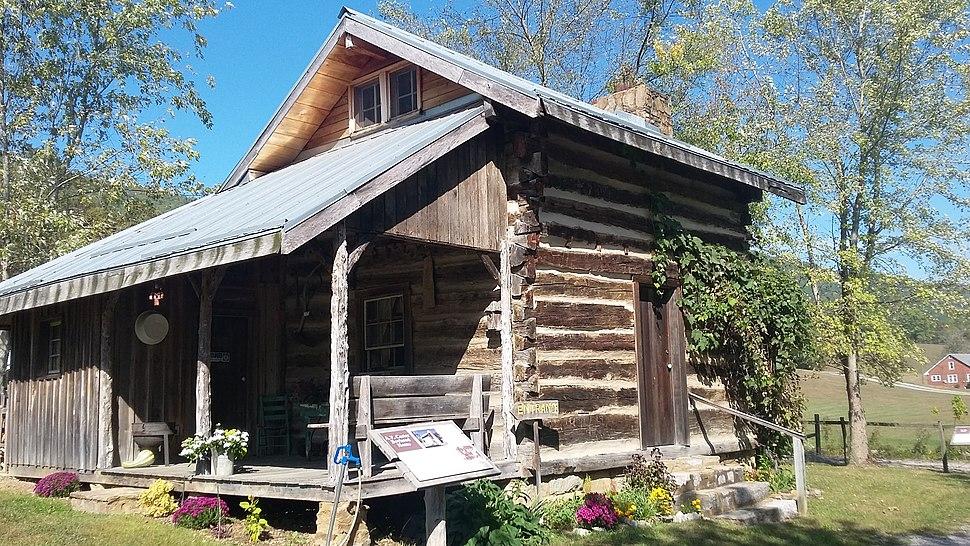 Birthplace log cabin of A.P. Carter at the Carter Fold at Maces Springs, Virginia now Hiltons, Virginia.jpg