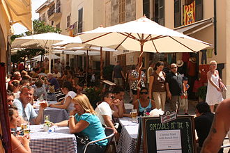 Alcúdia - The old town of Alcudia is famous for its small restaurants.
