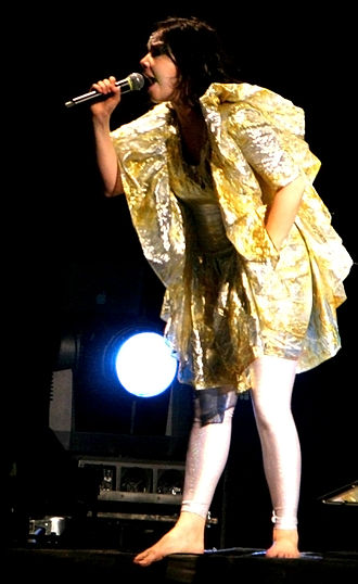 Björk discography - Björk performing at Rock en Seine during the Volta Tour (2007).